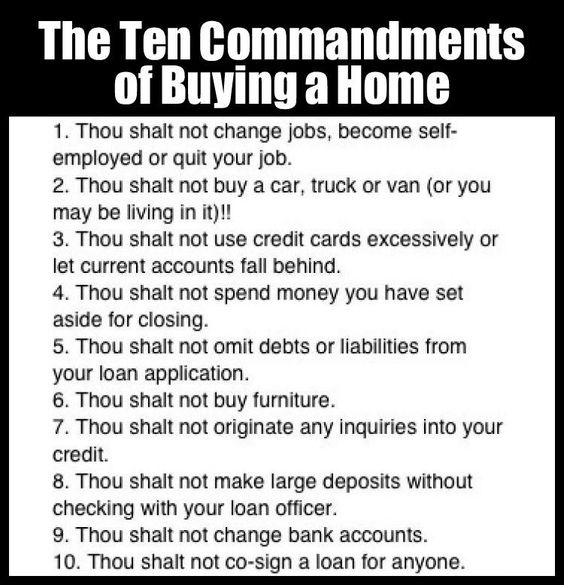 buying a home commandments